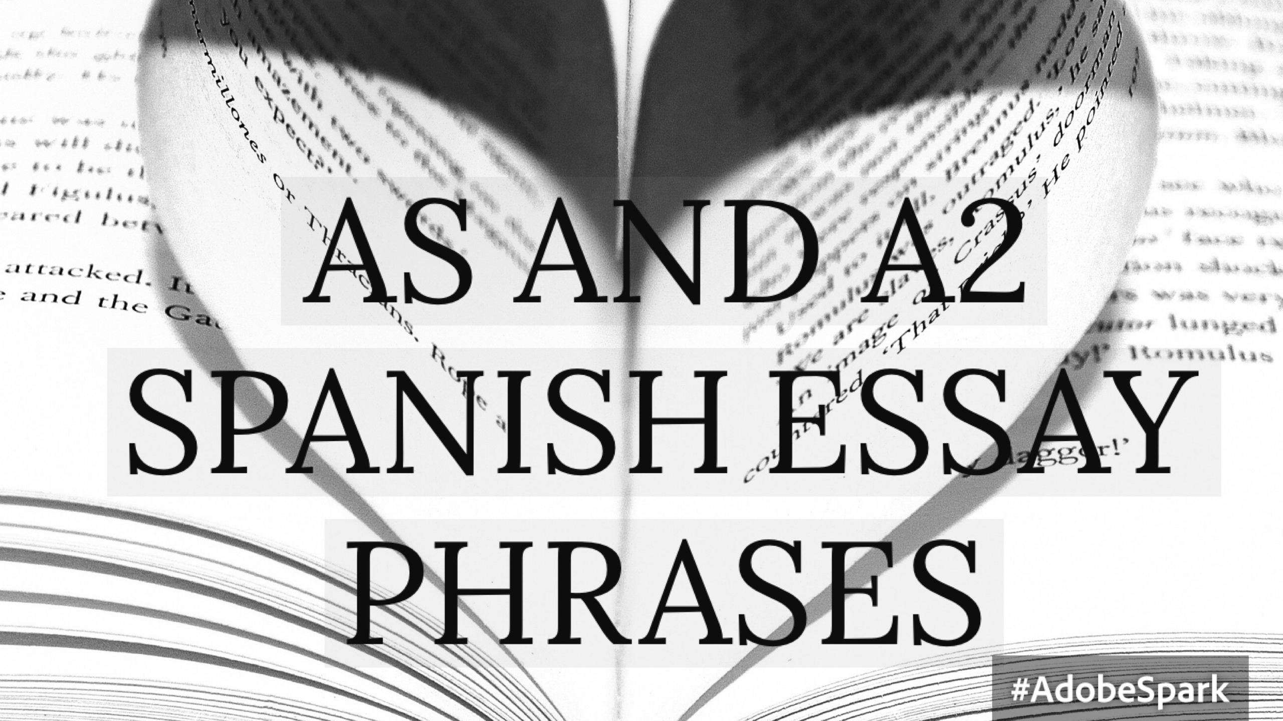 college essays in spanish Is thinking of good college essay ideas hard here's a guide on how to brainstorm great college essay topics for your application.